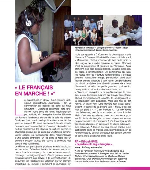 VISU ARTICLE FRANCOPONIE