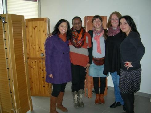 Avec Mercedes, Aymée, Helia (de la Red de mujeres latinoamericanas) et Mamen.